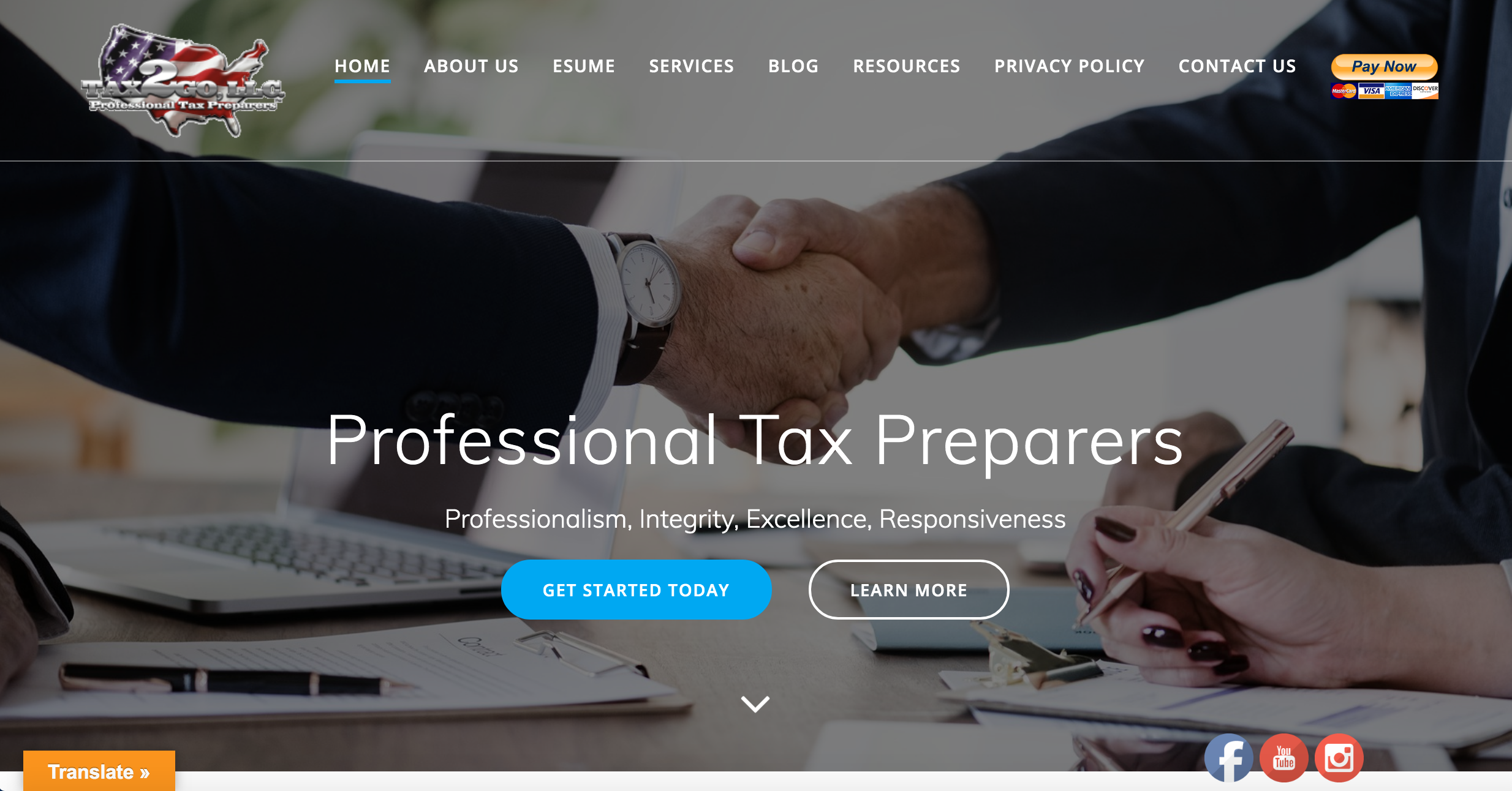 Tax2Go Website